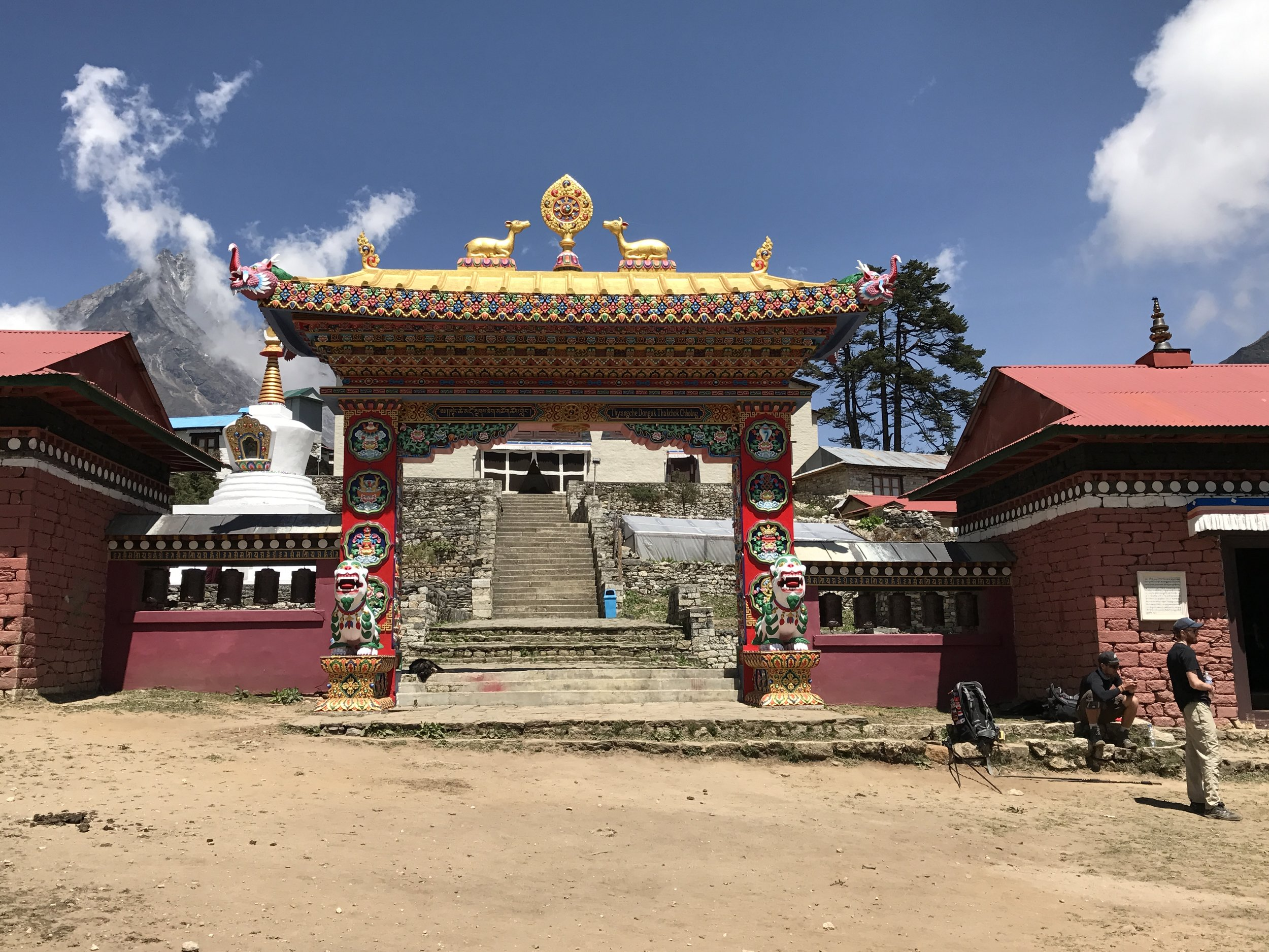 Dawa Choling Gompa, also known as tengboche monastery. you aren't permitted to take photos inside, so this is as close as you can get!