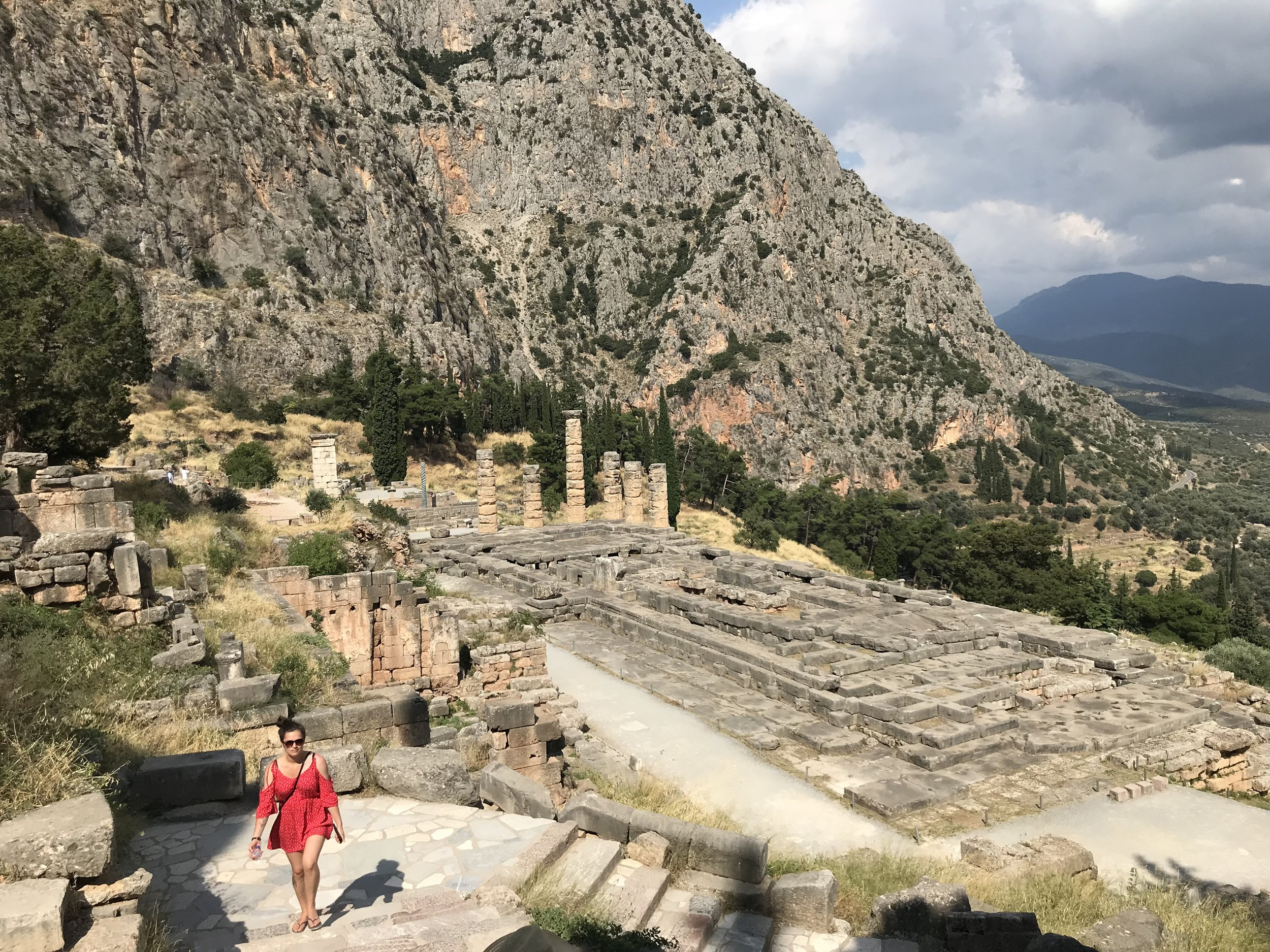exploring the ruins at delphi
