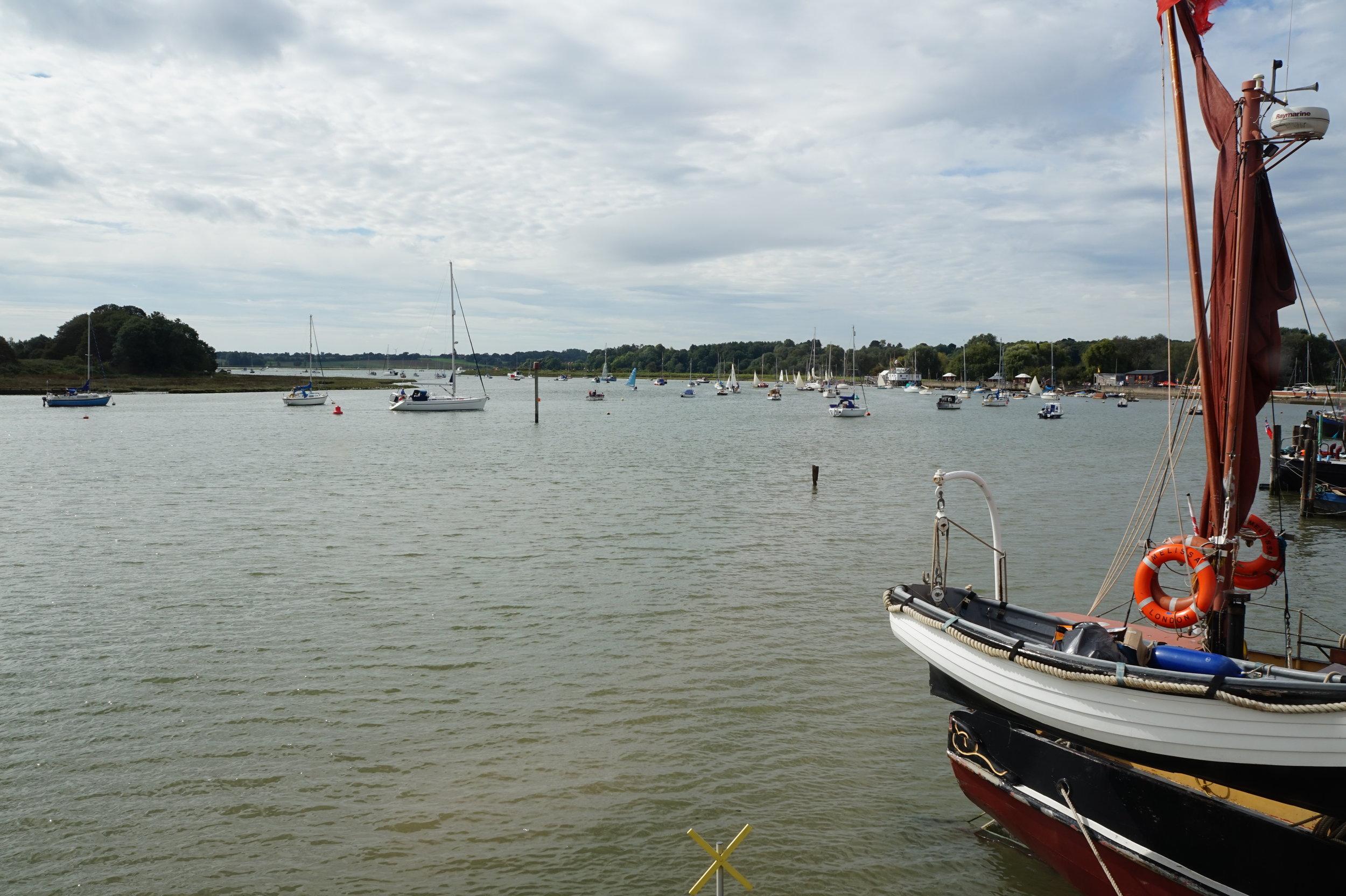deben river waterfront at woodbridge