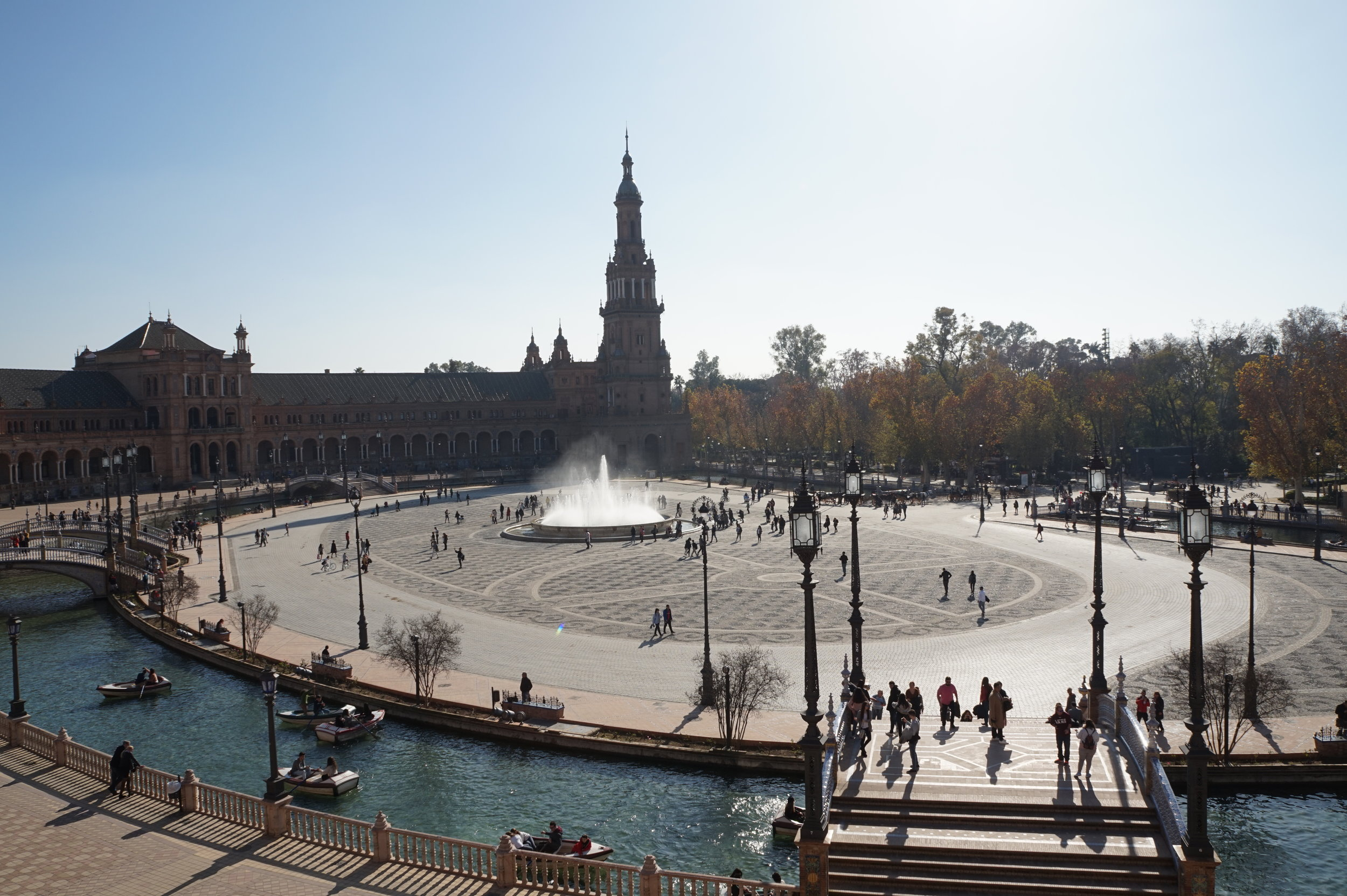 the plaza de espana