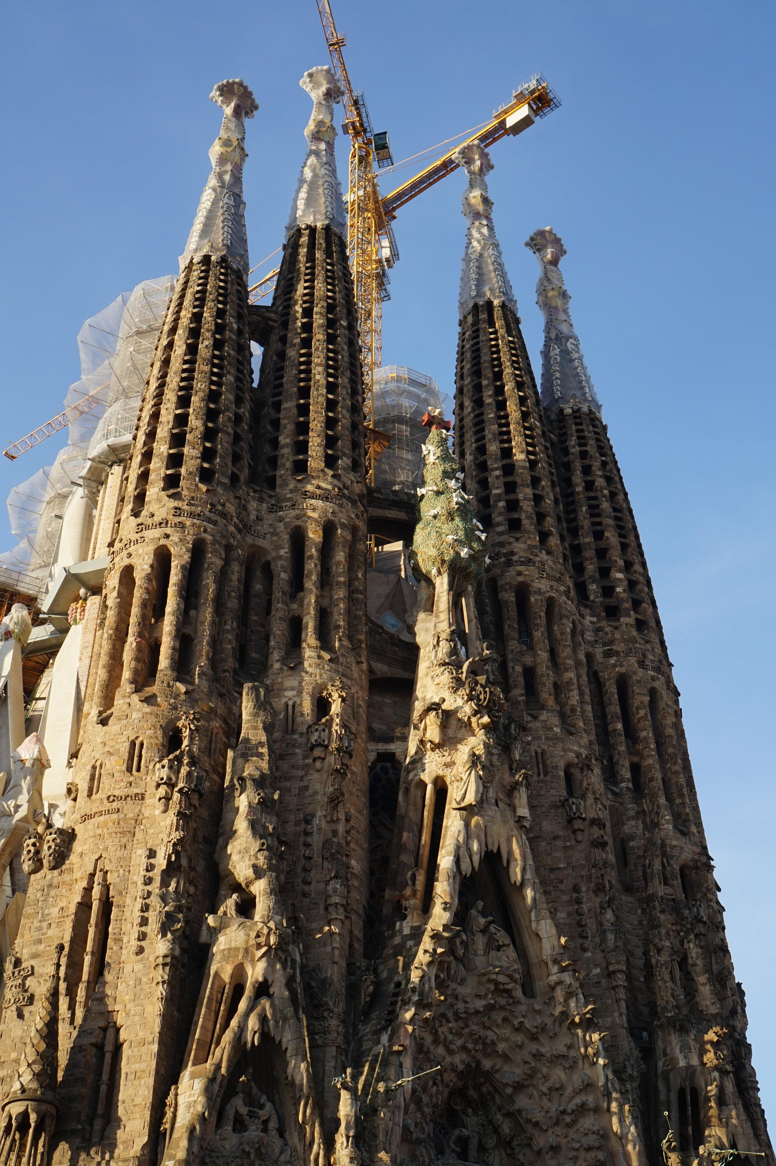 the north-eastern face of the sagrada familia