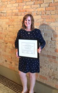 Ana Prendergast was honored at the 28th Judicial District Bar luncheon for her pro bono work