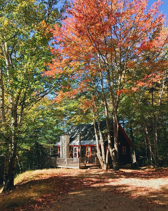** Heads up ** Only two weekend dates (Oct 12-14 + 26-28) available at Vienna Lodge from now until November! 🏔🏡🍁 . If you were planning on taking a trip to the White Mountains this Fall and wanted to spend a weekend at Vienna Lodge, head over to book now! Link's in our bio 🍁