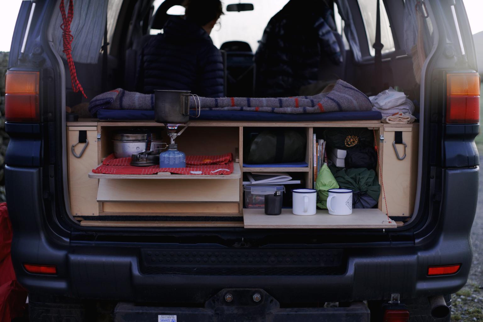 The finished (version 1) removable camper unit.