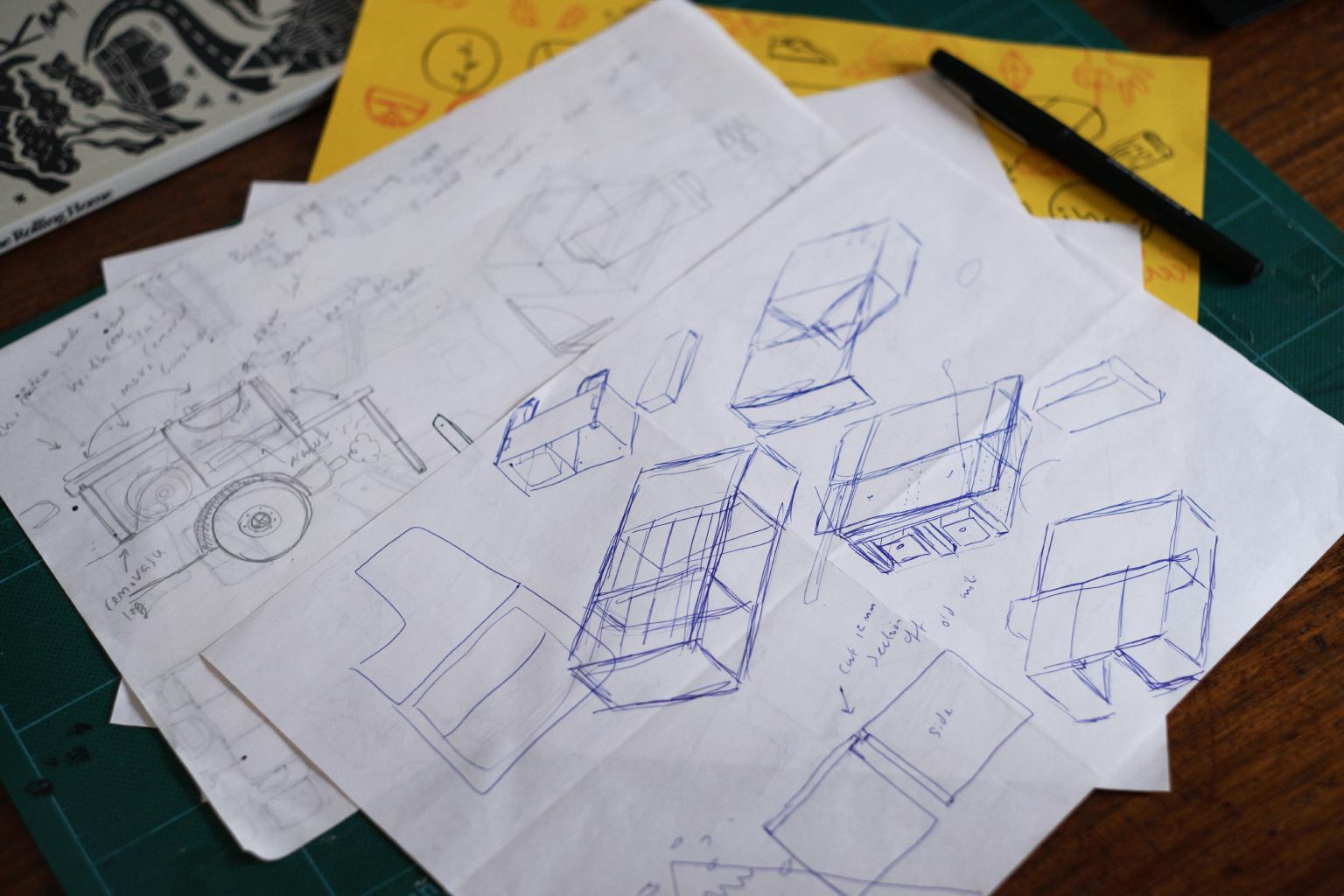 Some original sketches and ideas