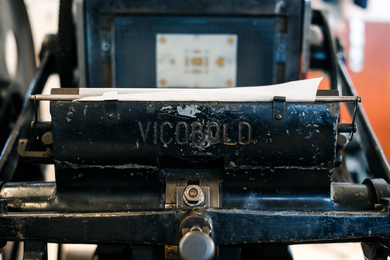 The 'Beast' - a 1950's Vicobold printing press