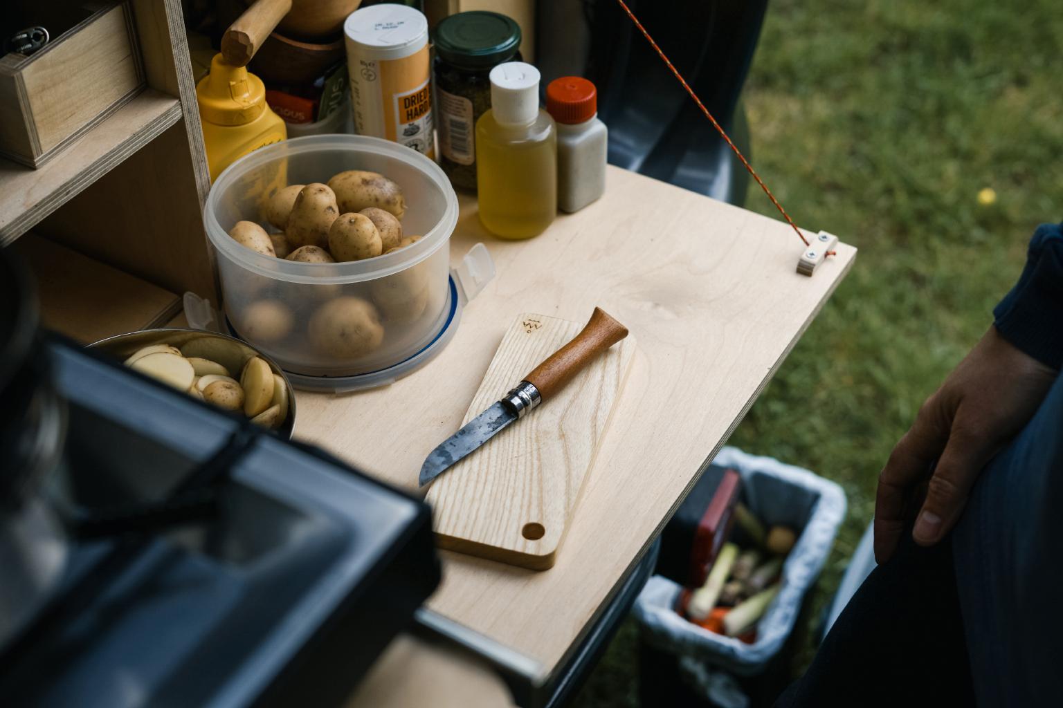 Chopping potatoes on our  Terra Firma Chopping Board