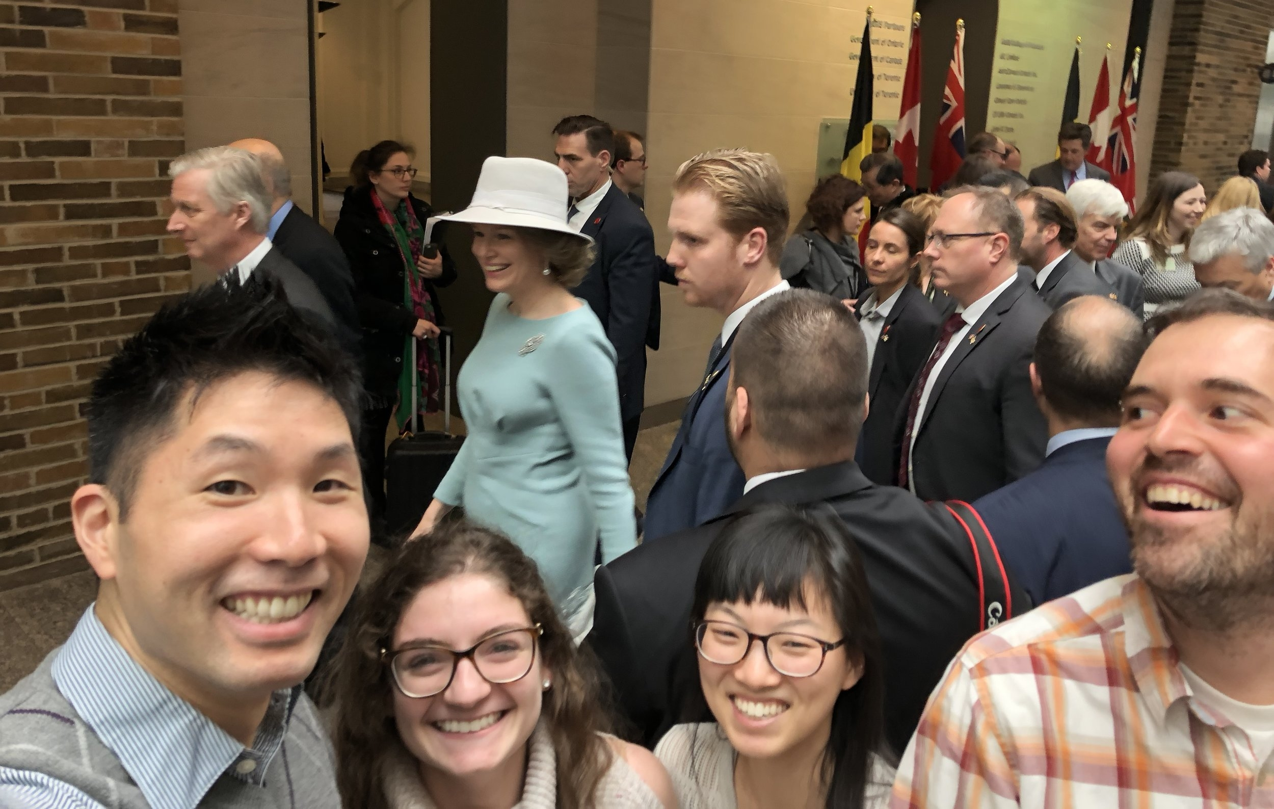 lab selfie with the king and queen of belgium.jpeg