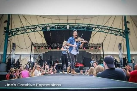 Stepping into Fall like... Sad to see Summer over, but it was full of amazing memories! Looking forward to a new season and what God has in store for us.  Here are some great shots from our recent performance at @unitychristianmusicfestival by @lanejoel . . . . #onthecatwalk #ucmf #iamatunity #festival #catwalk #performance #violin #band #liveperformance #christianfestival #michigan #unitychristianmusicfestival