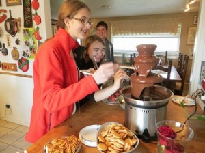 The ever popular chocolate fountain