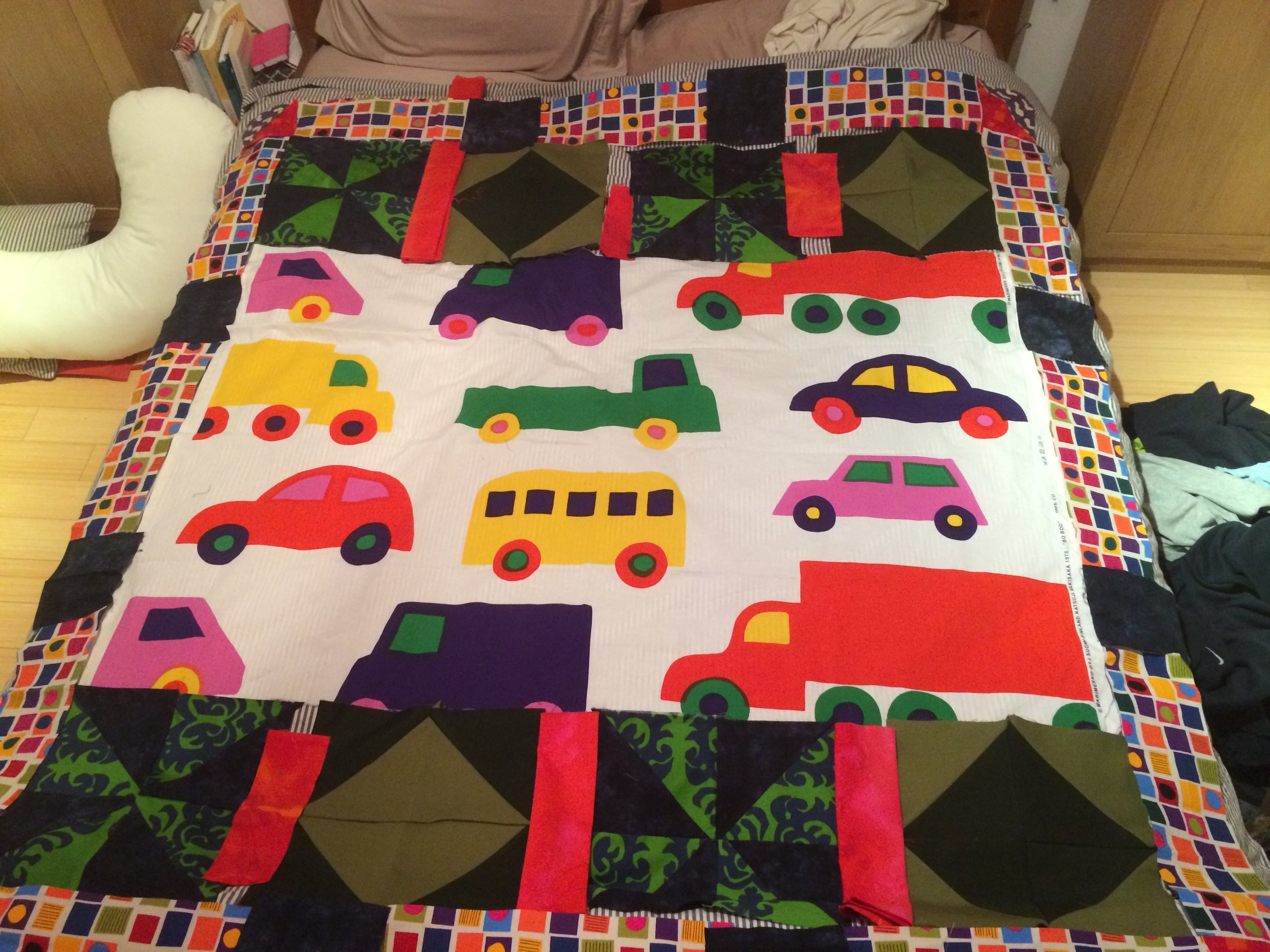 This is the quilt I made for my son….I have made a quilt for each of my kids.