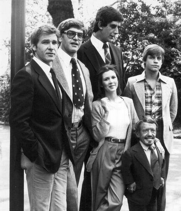 El elenco original de star wars, 1978