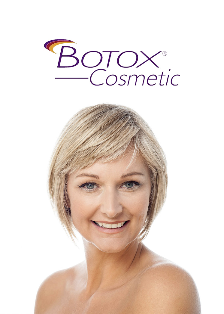 Botox Cosmetic - Botox® is injected into the facial muscles to temporarily improve the look of moderate to severe forehead lines, crow's feet lines, and frown lines between the eyebrows in adults.