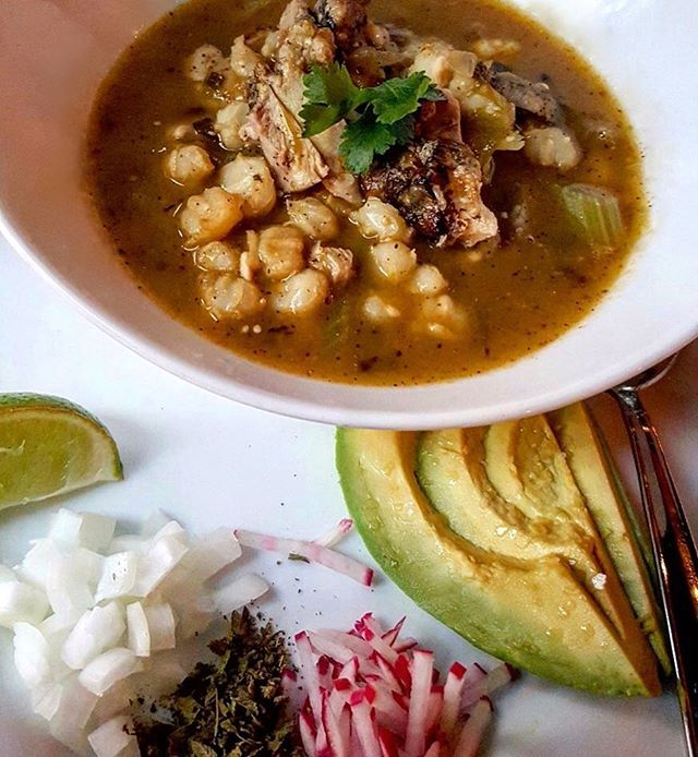 We've got a rainy week ahead! ☔️ Be sure to warm up at The Blind Burro with a bowl of our Chicken Pozole!