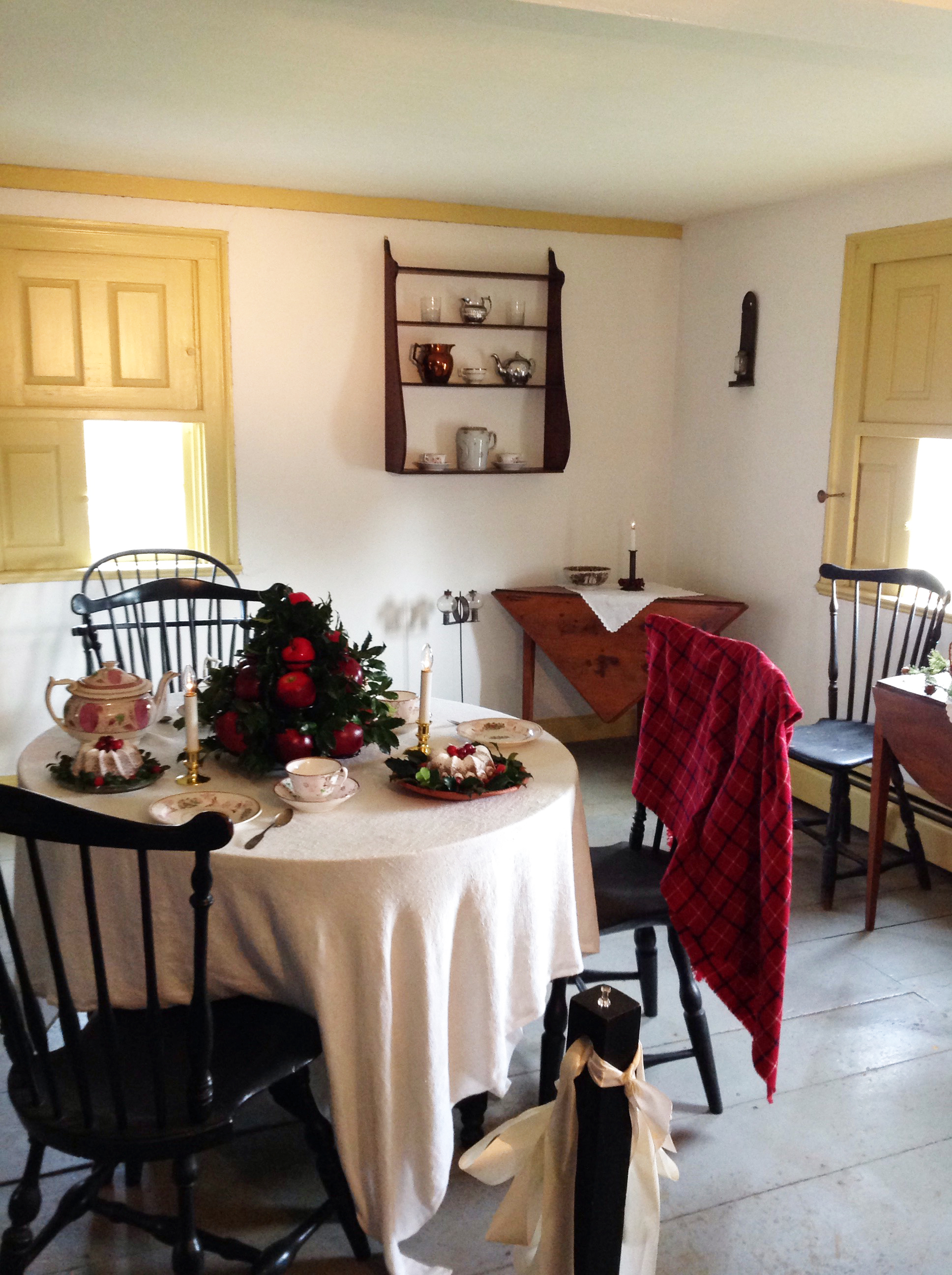 The Johnson Cottage set up for Holiday Open House