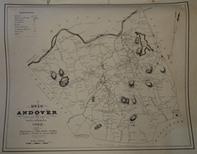 1830 Map of Andover
