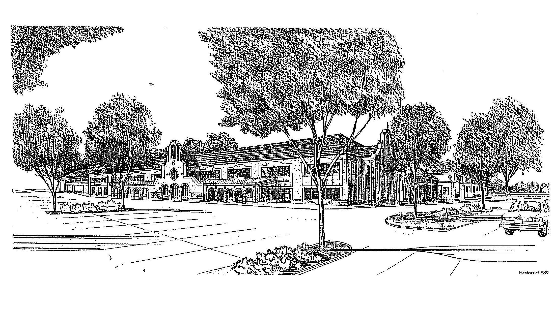 Sketch of the brand New School Nov 1998.jpg