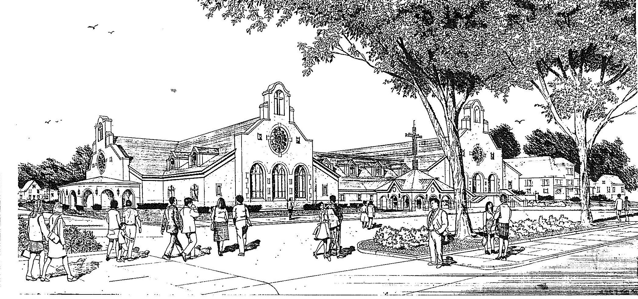 Sketch of the brand new expanded church dedicated 10-24-99.jpg