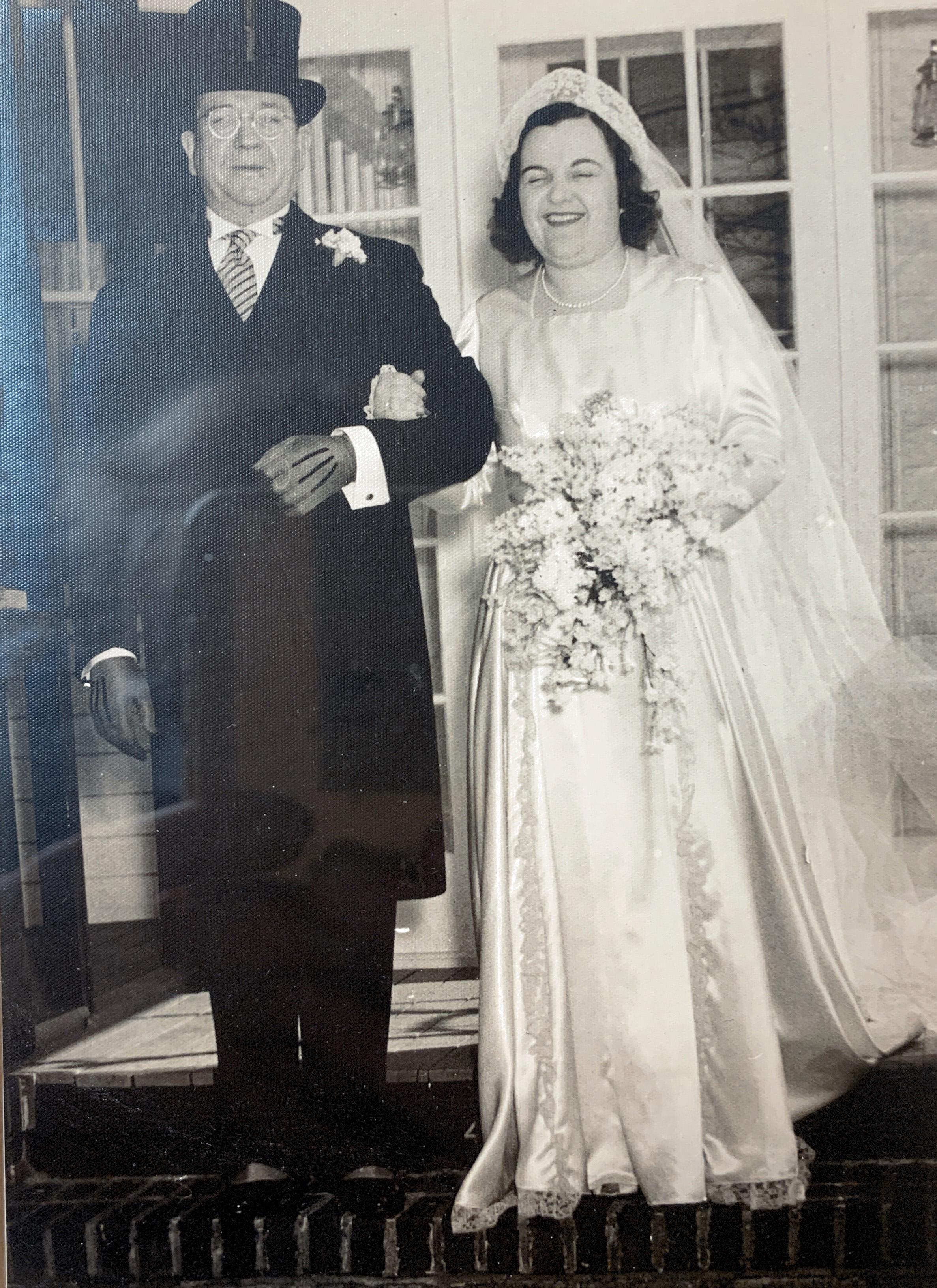 Stephen H. Brennan and daughter Alice M. on her wedding day.jpg