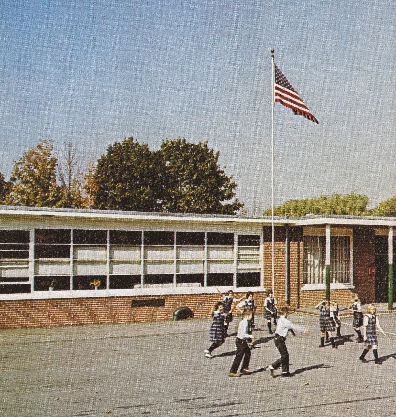 St. Michael School on Maple Avenue in 1969. Photo from 100th Anniversary book.