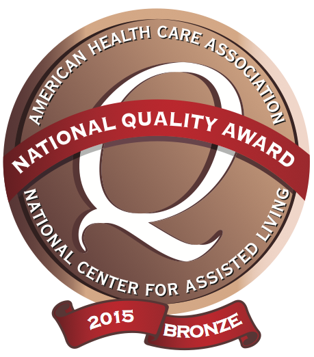 Meadowood  Nursing Center  has been recognized as a 2015 recipient of the Bronze - Commitment to Quality Award for its dedication to improving the lives of residents through quality care. The award is the first of three distinctions possible through the National Quality Award Program, presented by the American Health Care Association and National Center for Assisted Living (AHCA/NCAL). The program honors centers across the nation that have demonstrated their commitment to improving quality care for seniors and individuals with disabilities.    Download Full Press Release