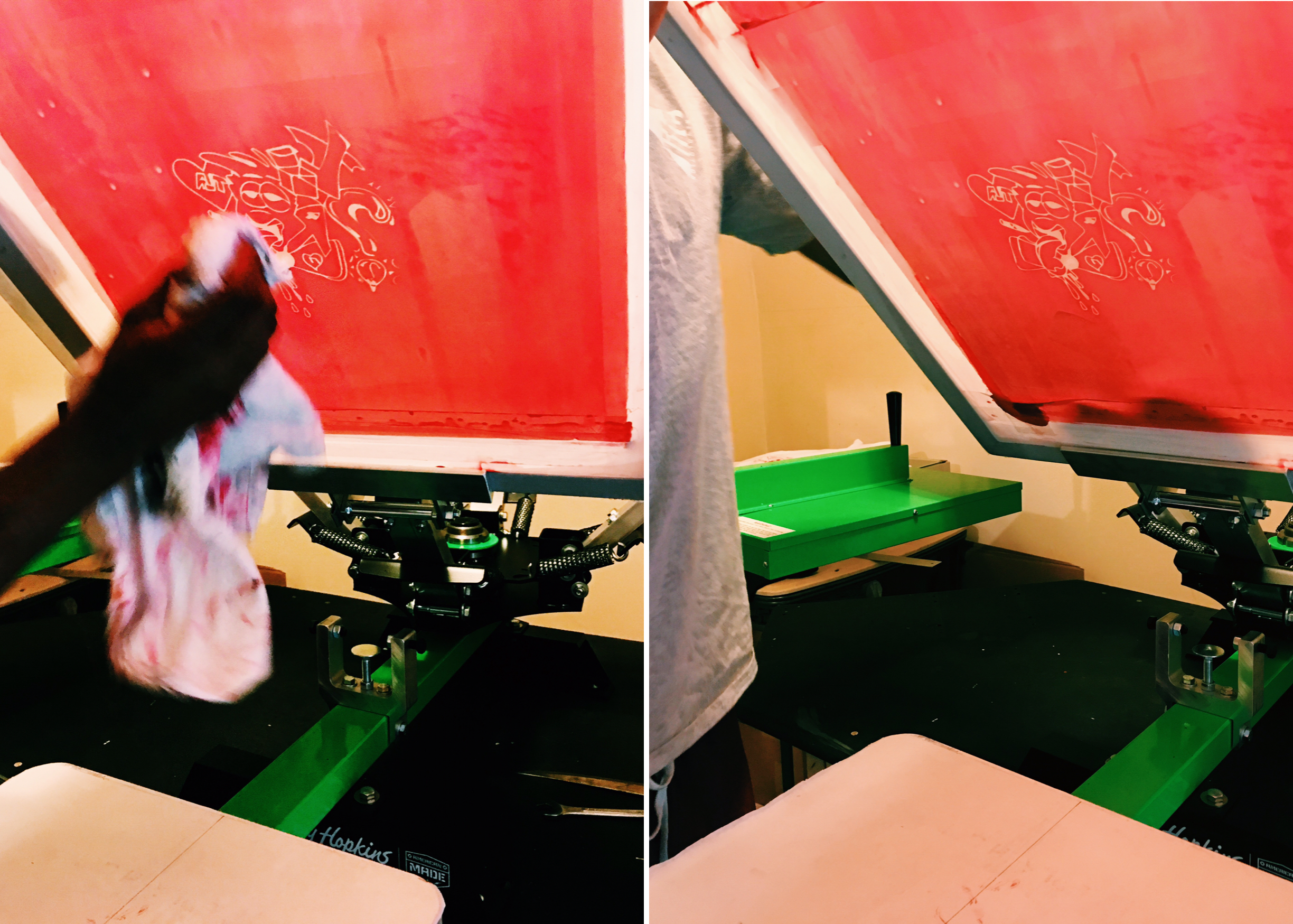 how to screen press a graphic tshirt