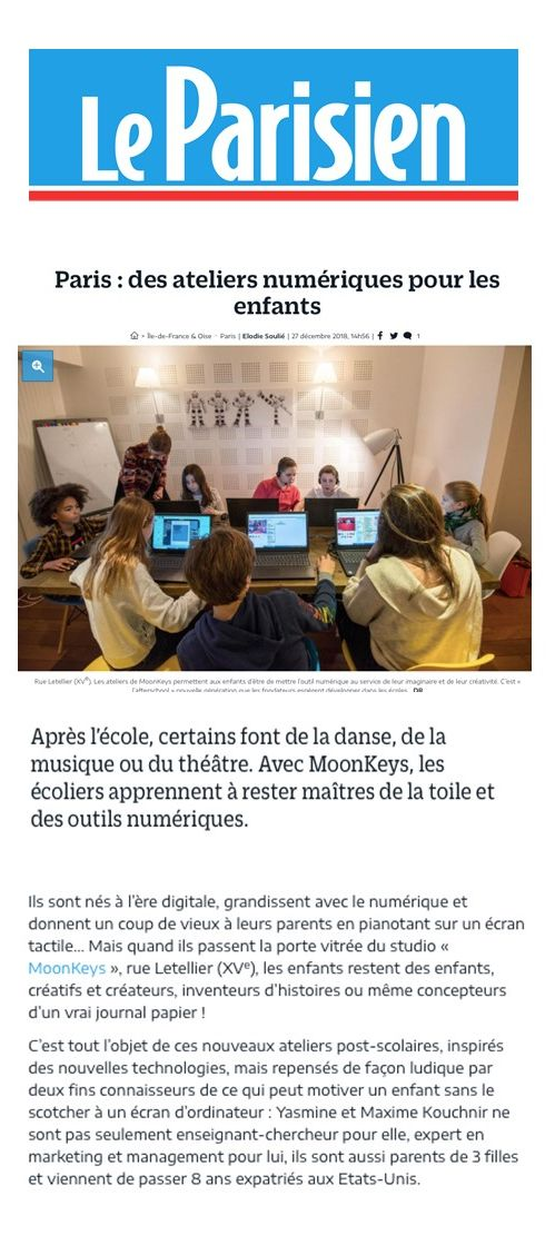 Article du parisien