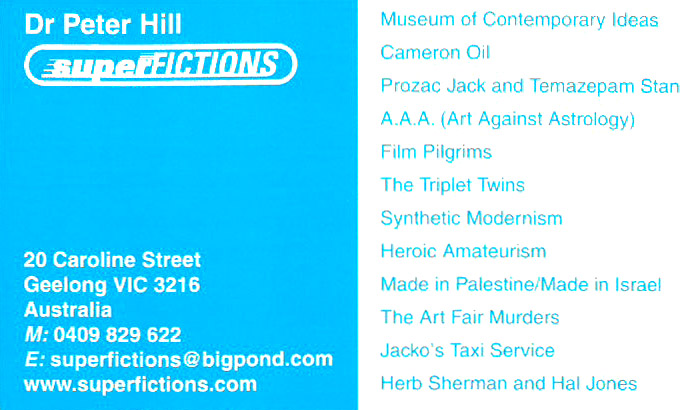 PETER HILL BUSINESS CARD