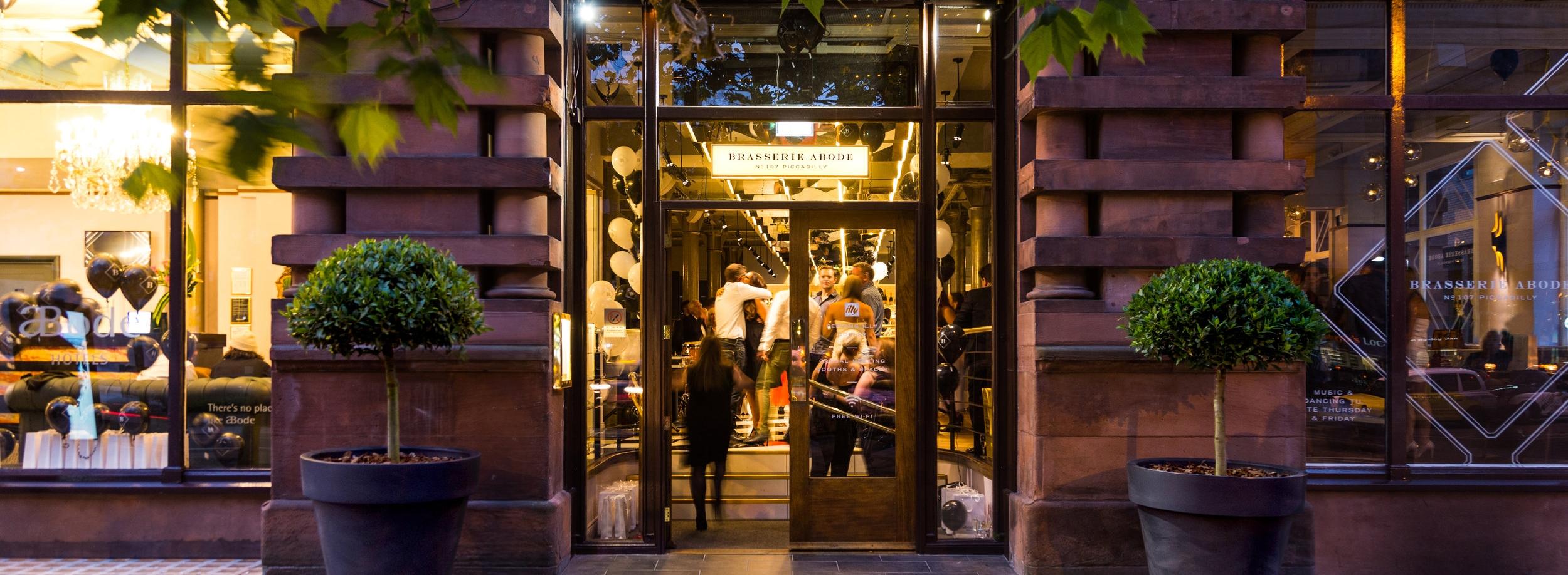 Manchester Brasserie Abode Bistro Style Dining Bar