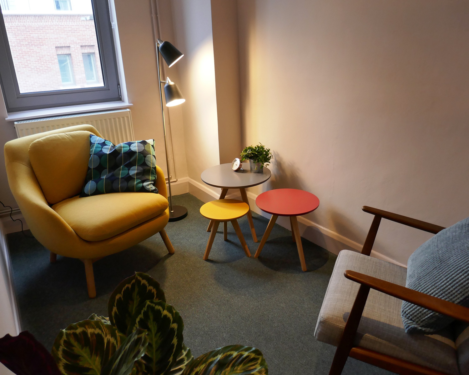 My counselling room in London Bridge.  Photo: courtesy of Borough House Rooms.