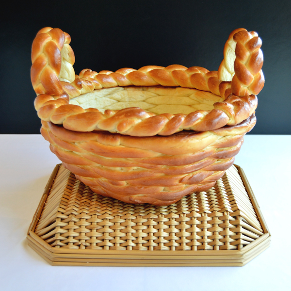Basket made of bread that imagine myself eating… alone… in a corner somewhere with tea!