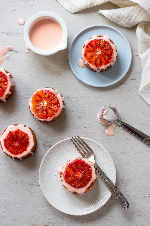 blood-orange-drizzled-almond-cakes