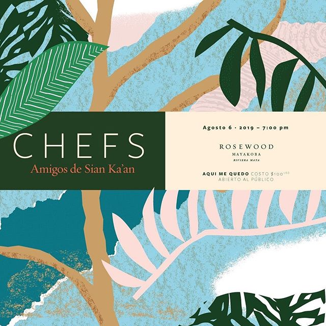 Join our chef @csr_castaneda on Aug 6th at @rwmayakoba to support the Sian Kaan biosphere. Recently the fires killed 2 hectares of flora and fauna in the middle of the Sian Kaan Jungle. These chefs will team up to support the restoration of the area, all money raised will be donated to restore the jungle with the help of @amigosdesiankaan.  Please share to support us and enjoy an amazing dinner 🍴 .  #aquimequedo #NuTulum #rivieramaya #piacocinalibre #rosewood #pueblito #primo #axiote #tulumlife #amigosxsiankaan