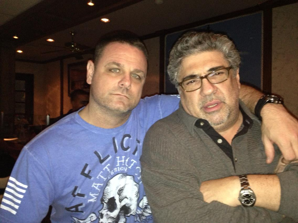 With Vincent Pastore