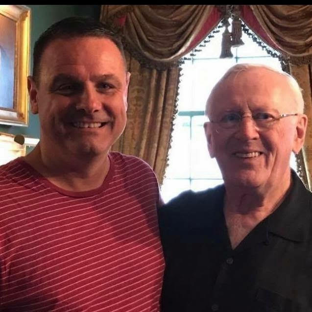 "With Len Cariou at rehearsal of ""HARRY TOWNSEND'S LAST STAND"""