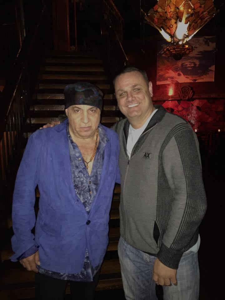 With good friend Steven Van Zandt