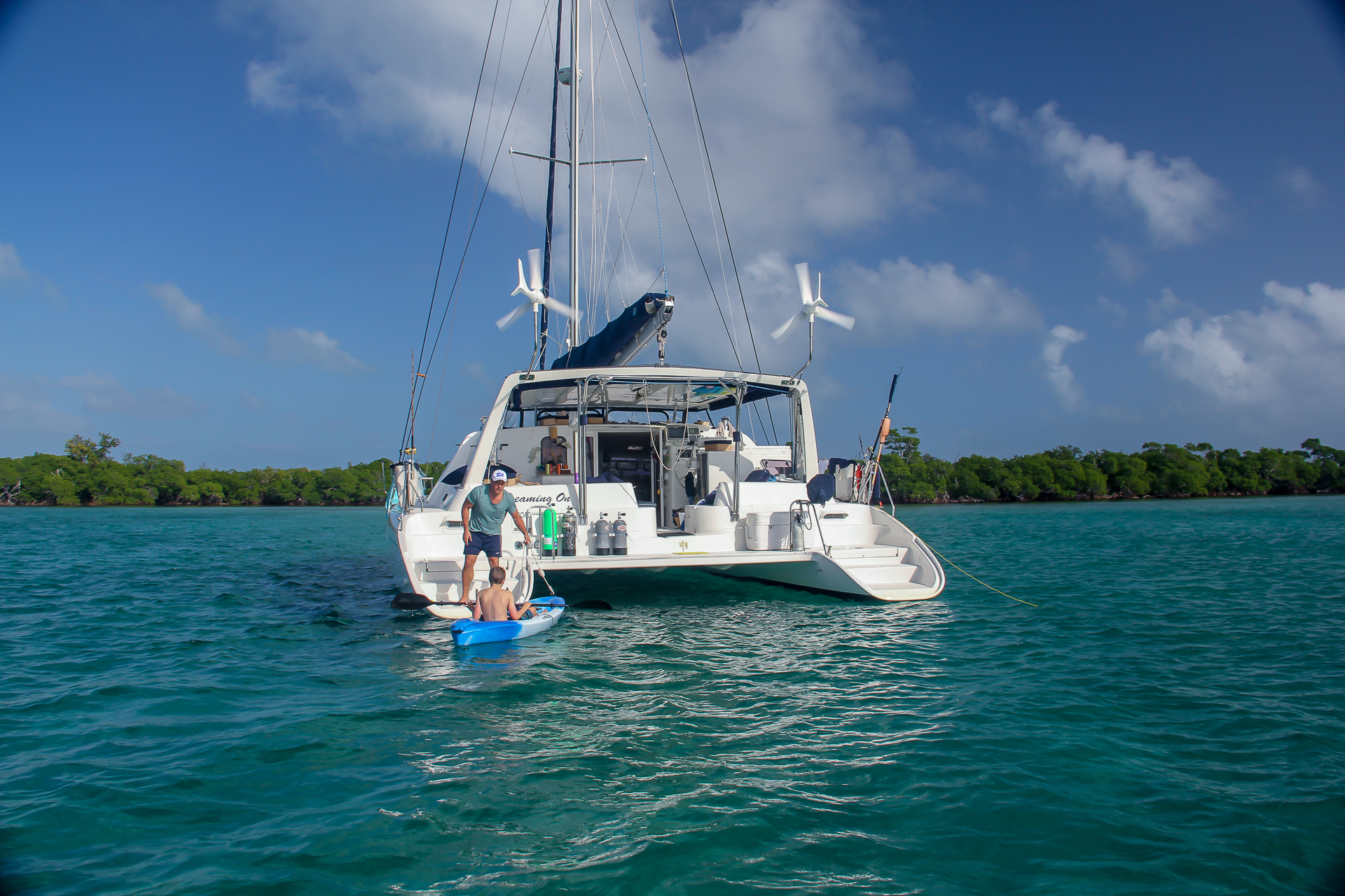 Dreaming on Catamaran