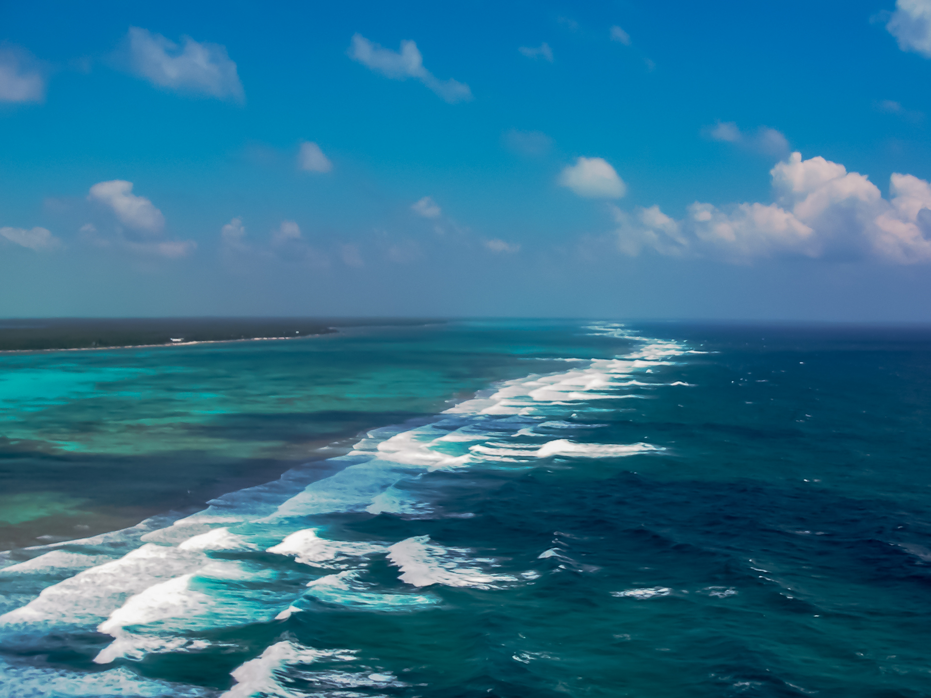 Belize Barrier Reef: the second largest barrier reef in the world.