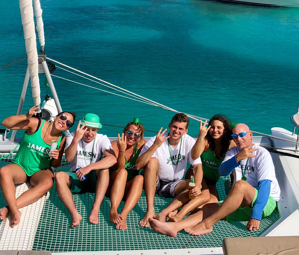 St Patrick's Day aboard Mariann-March 2018