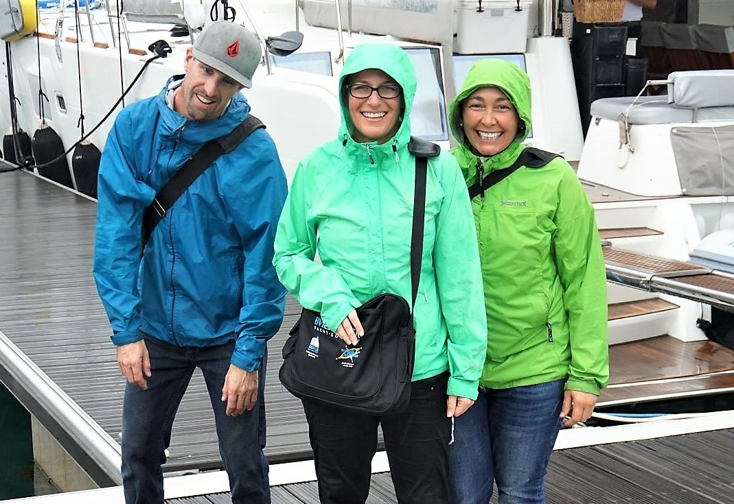Jason, Mandy, and Rory… it's a little damp out here!