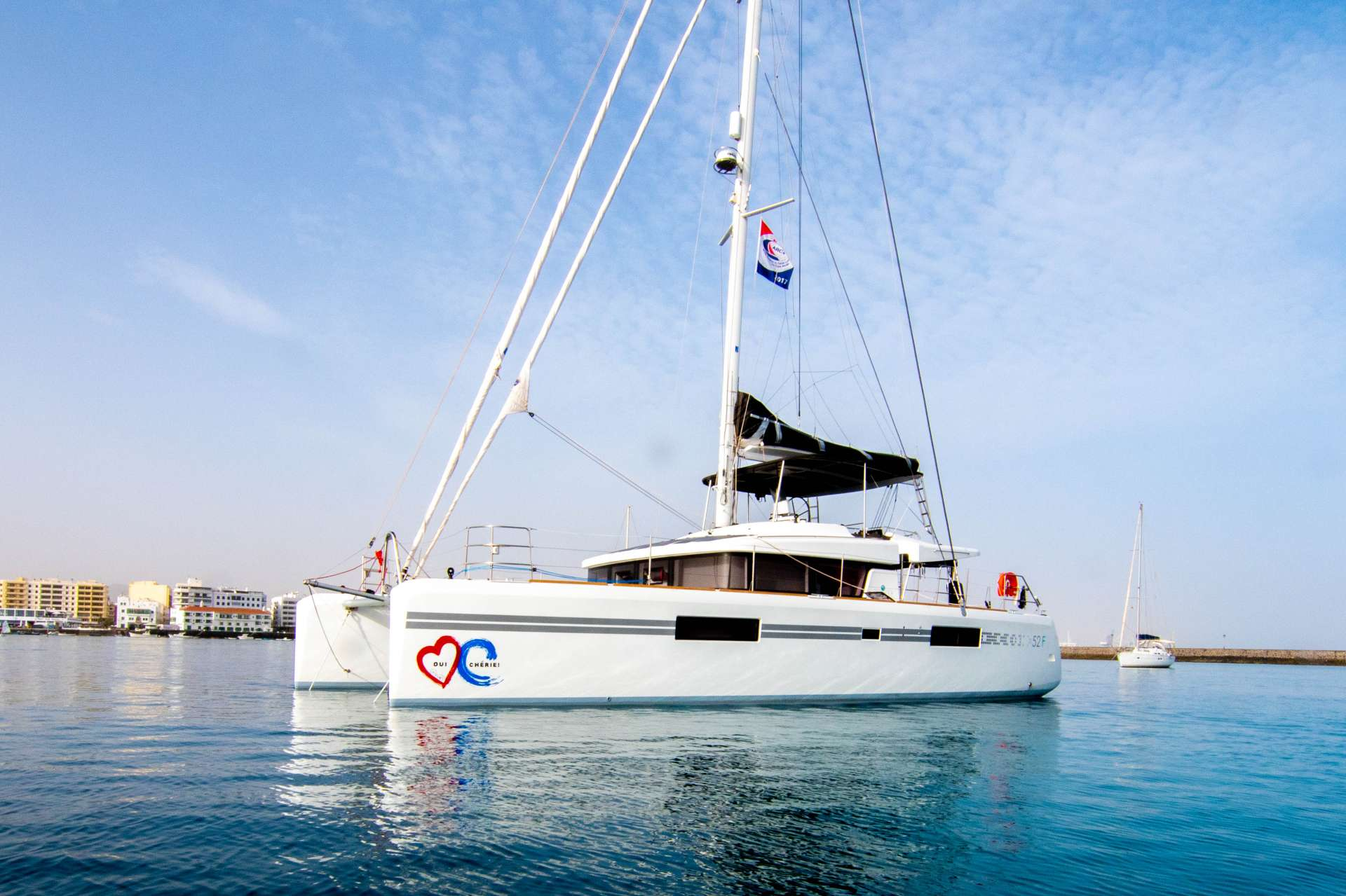 """When asked the question, """"Did you select the best yacht in the Caribbean? The answer can only be Oui Cherie""""."""
