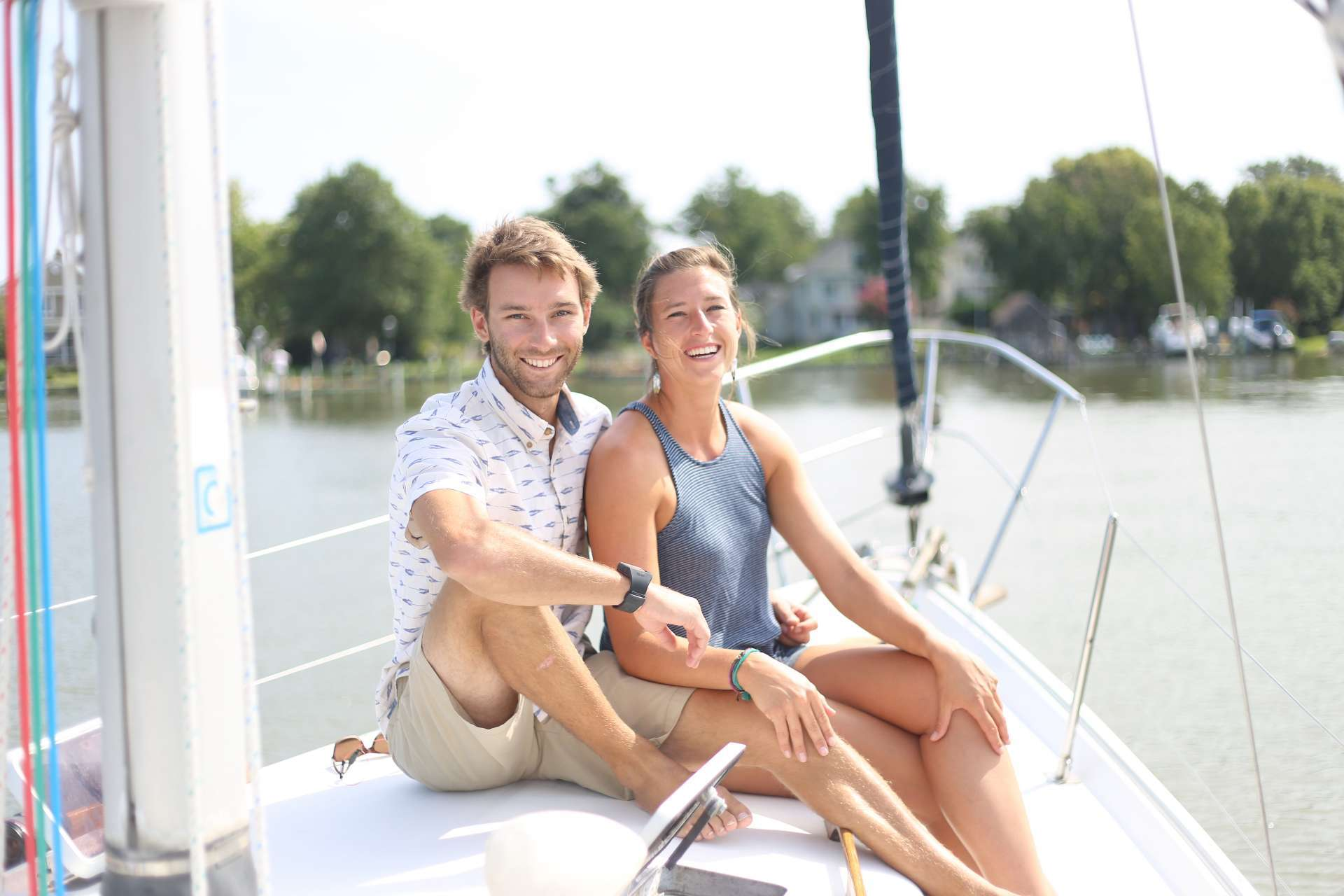 Captain Ryan and Chef/Yoga Instructor Jill