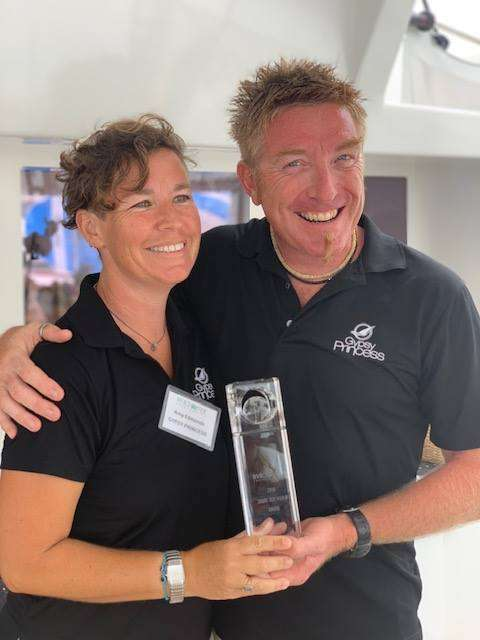 Biff and Amy The annual CYS Share Our World Award 2018 was presented to Captain Biff & Amy for their efforts helping the territory recover from last years devastating hurricanes