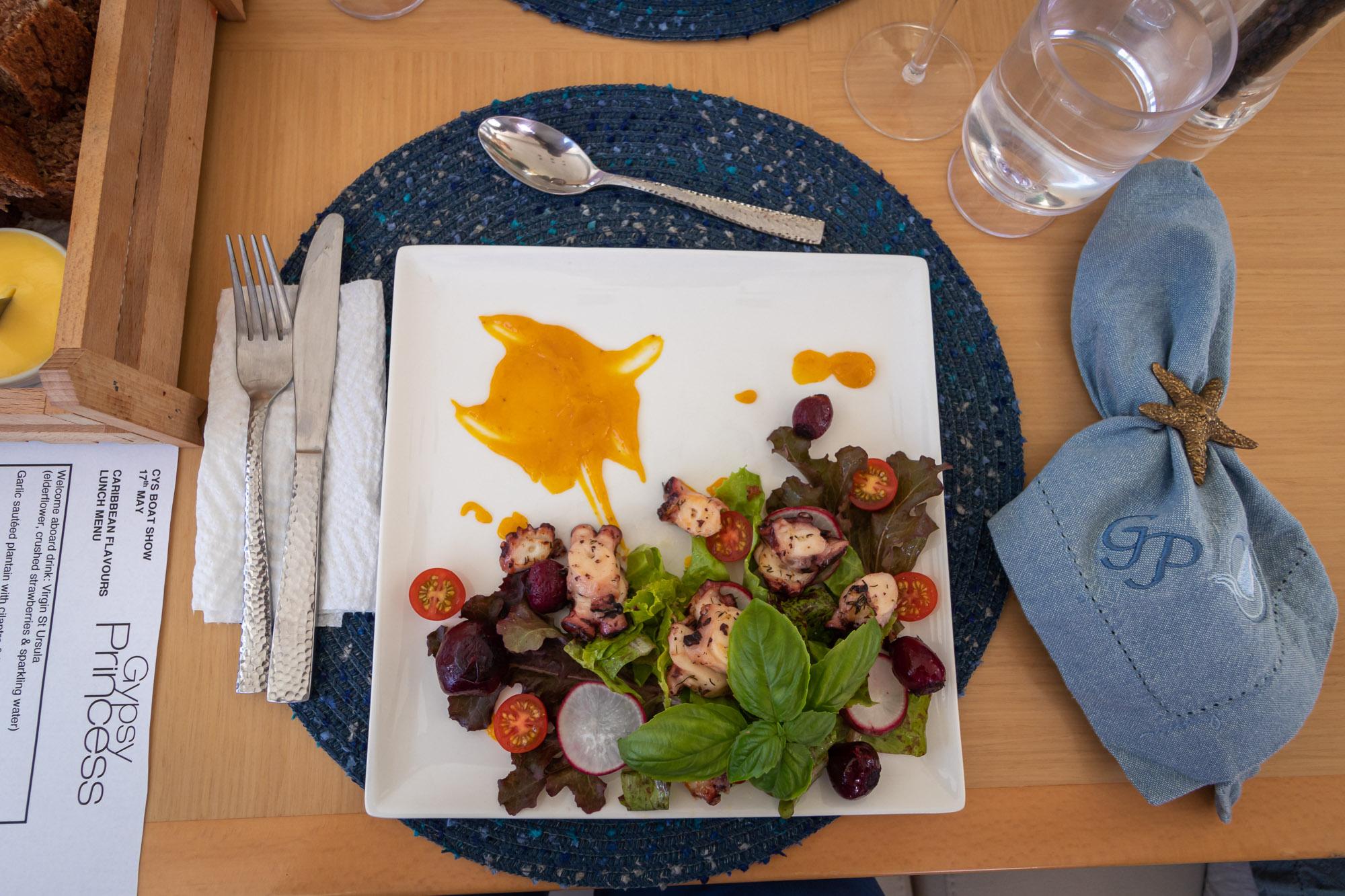 Herbed octopus salad aboard  Gypsy Princess