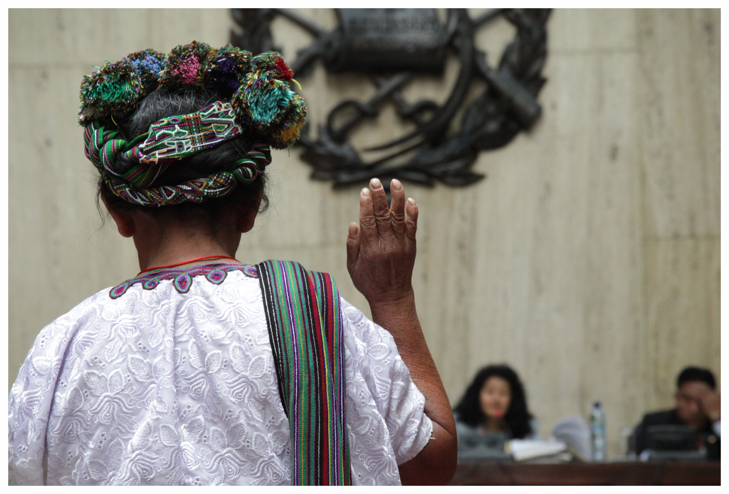 Catalina Sánchez testifies during the genocide trial of former Guatemalan military dictator Rios Montt in 2013. (Photo: Elena Hermosa/Wikimedia Commons)