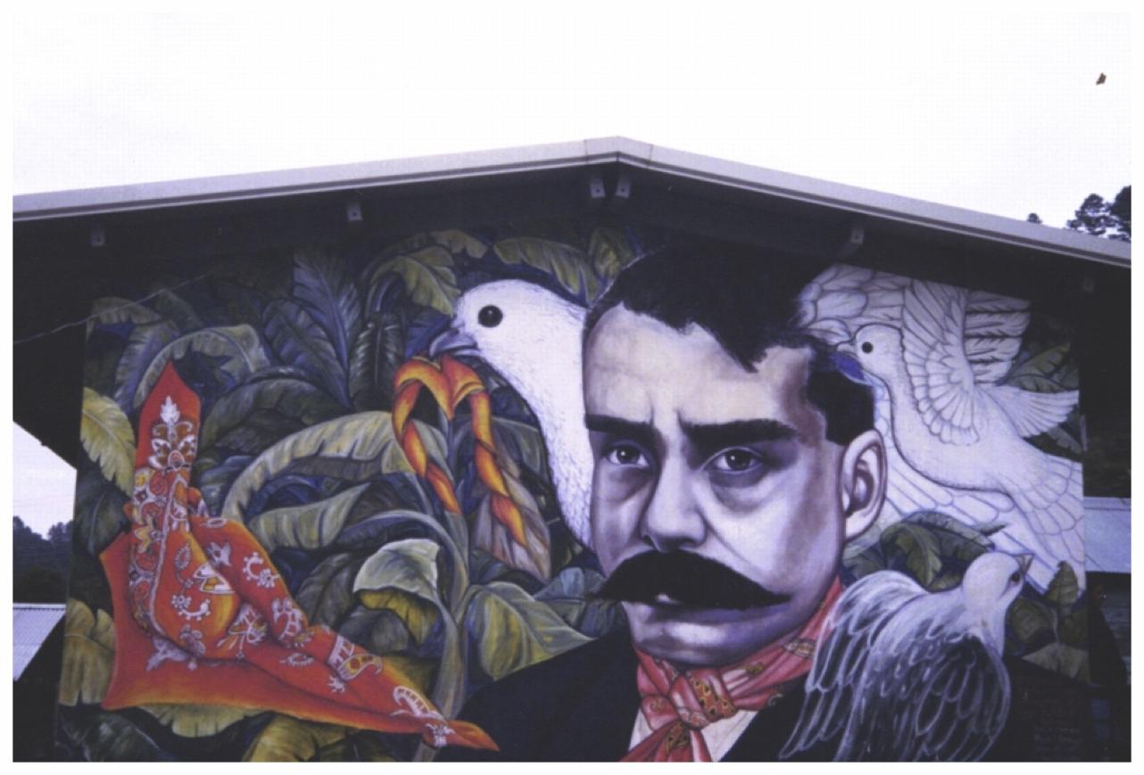 EZLN mural, Chiapas, Mexico, 1999. (Photo: S. Osten)