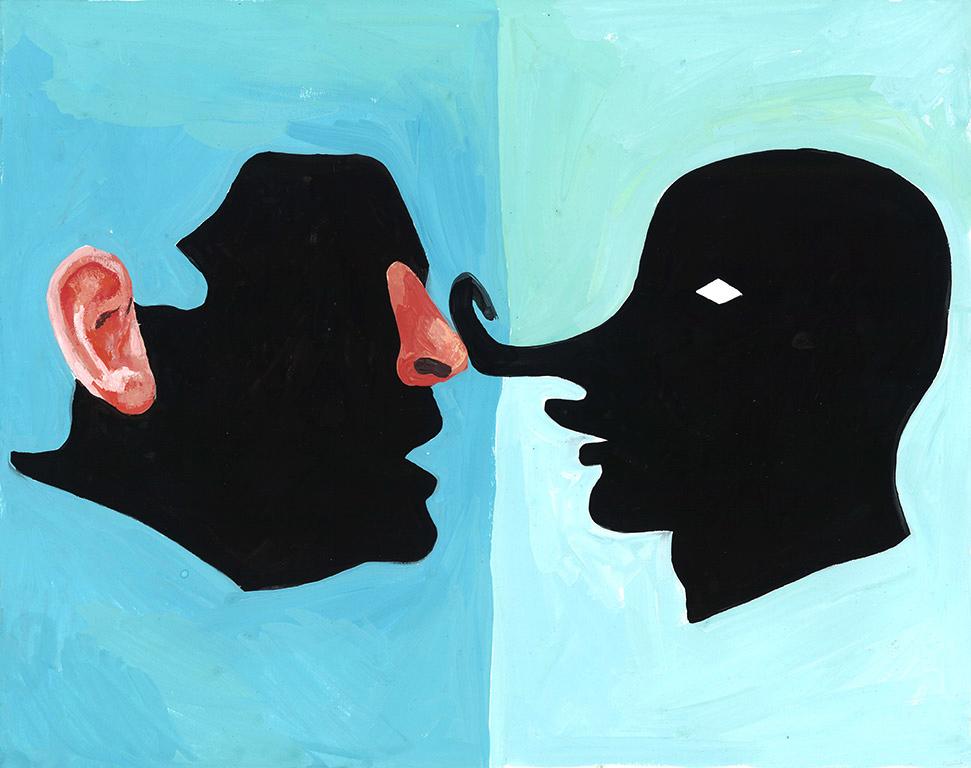 Art Death Match: Baldessari Nose vs Picabia Nose