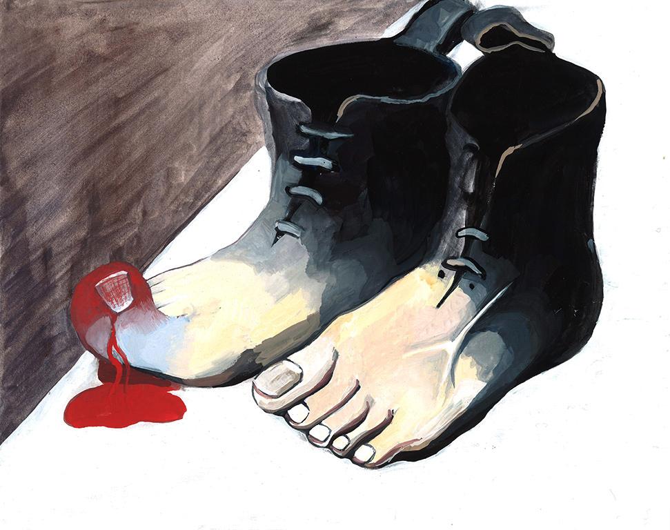 Art Death Match: Magritte Foot Boots vs Serra's Tilted Arc