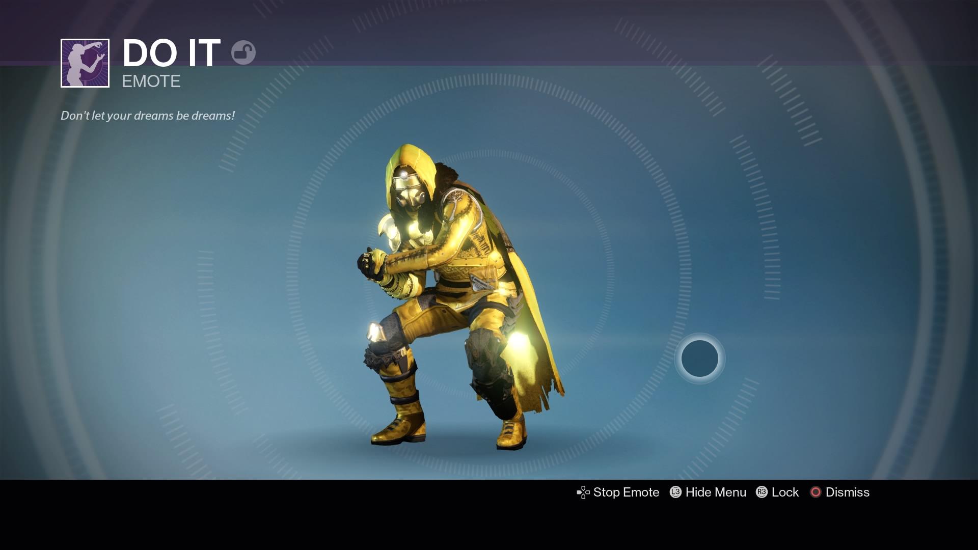 Destiny Do It Emote Reward