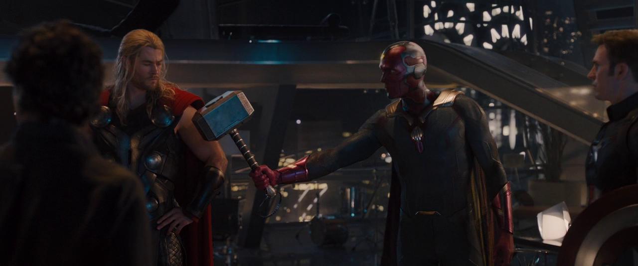 Avengers: Age of Ultron - Vision holding Mjolnir